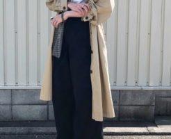 50代女性 ワイドパンツコーデ